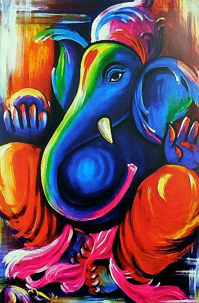 Artistic Ganesha Poster