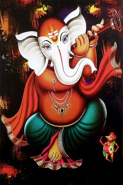 Ganesha Playing Shehnai