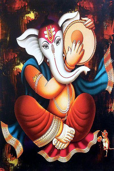 Ganesha Playing Daffli