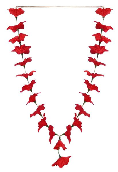 Red Cloth Hibiscus Garland