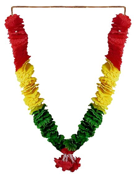 Red, Green, Yellow Cloth Garland