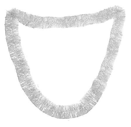 Silver Foil Paper Garland