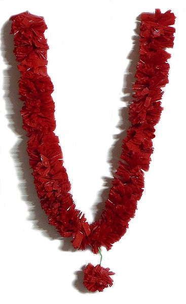 Red Synthetic Ribbon Garland