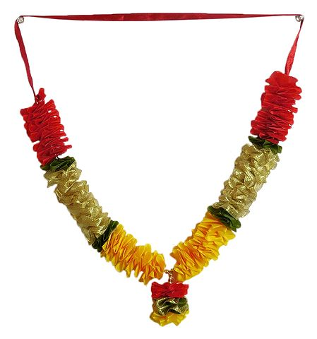 Yellow, Red and Golden Cloth Garland