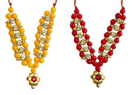 Set of 2 Small Bead Garlands