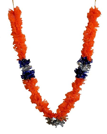 Saffron Synthetic Flower Garland
