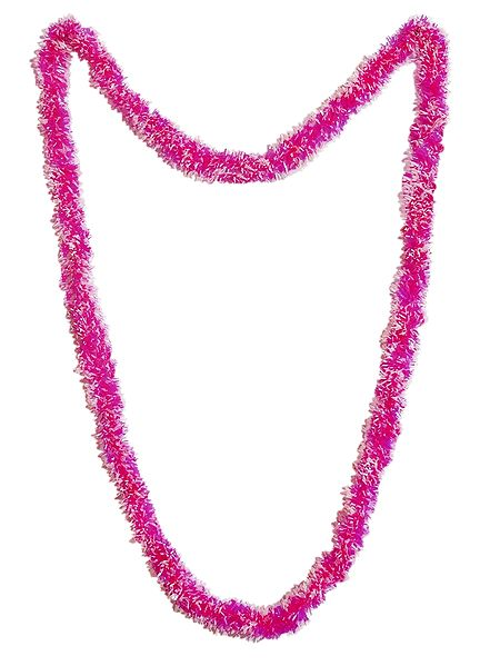Magenta with White Synthetic Paper Garland