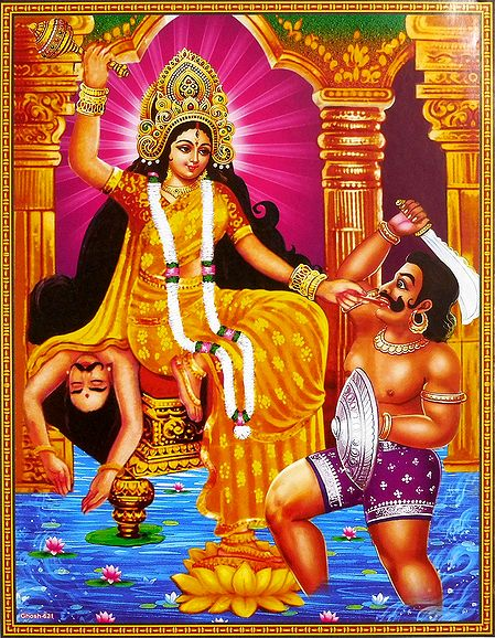 Goddess Bagalamukhi - One of the Dus Mahavidya