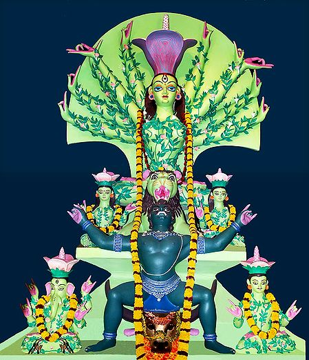 Devi Durga as Mother Nature - Photo Print