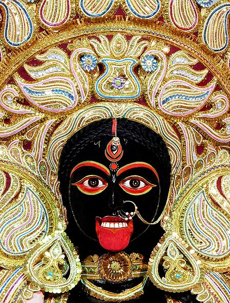 Face of Goddess Kali
