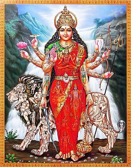 Maa Shakti Encompassing the Entire Universe