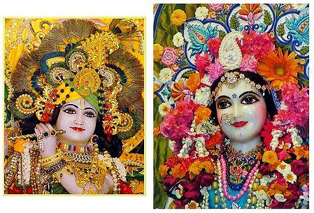 Radha Krishna - Set of 2 Poster