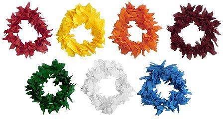 Set of 7 Small Cloth Garland for Decorating Hair