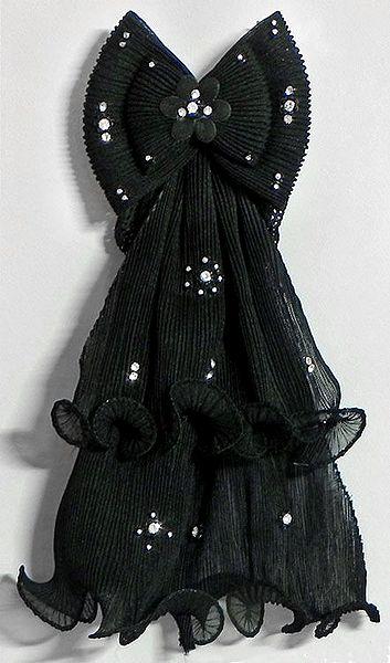Stone Studded Crinkle Cloth Hair Clip
