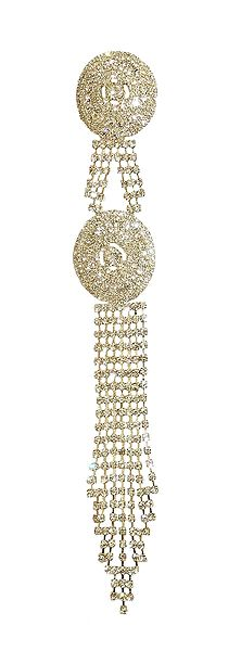 Stone Studded Metal Jewelry for Braided Hair
