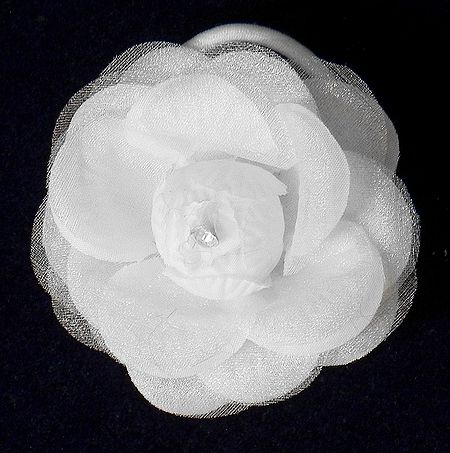 White Rose Hair Band (can be used as Brooch also)