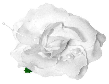 White Rose Hair Clip