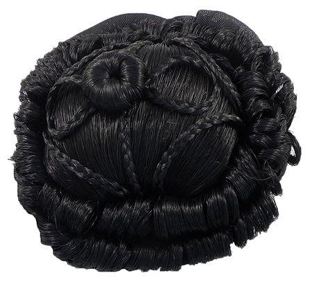 Designer Black Hair Bun