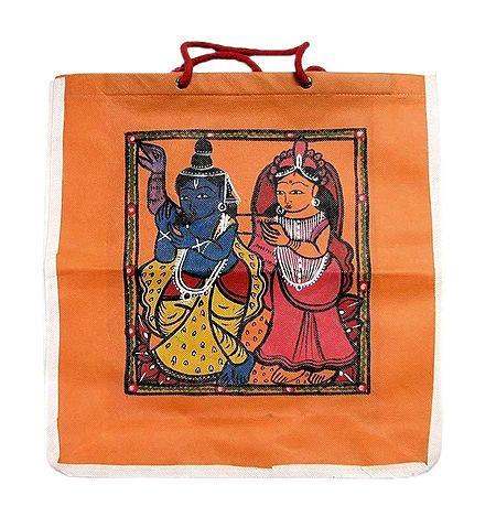 Patachitra on Saffron Shopping Bag