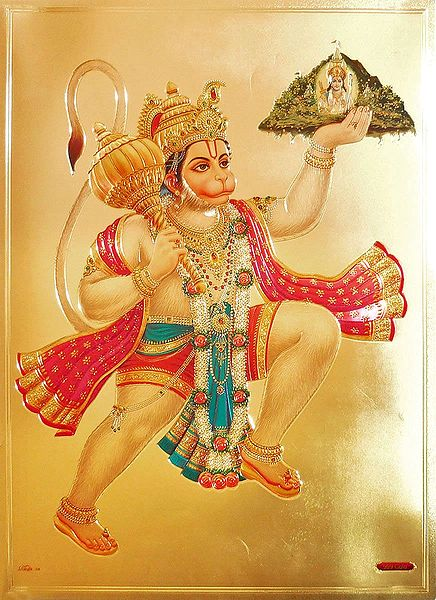 Hanuman Carrying Gandhamadan Parvat