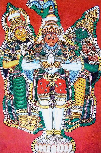 Hanuman,Sugriva and Angada