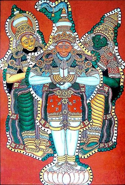 Hanuman,Sugriva and Angada