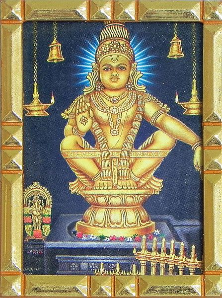 Lord Ayappan - Table Top Picture