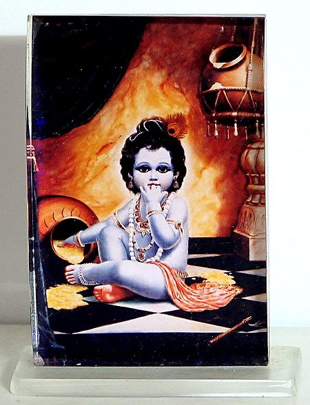 Bal Gopala - Acrylic Framed Table Top Picture