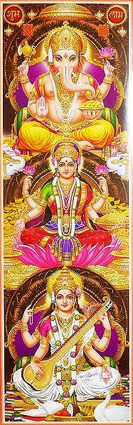 Lakshmi, Saraswati, Ganesha