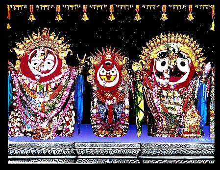 Jagannath, Balaram, Subhadra - Wall Hanging
