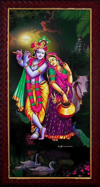 Radha Krishna -The Eternal Lovers - Wall Hanging