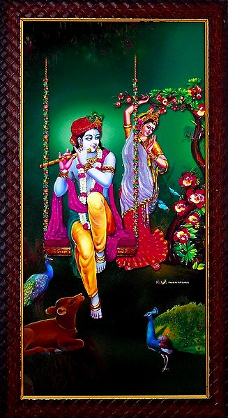 Radha Dancing by the Sound of Krishna's Flute