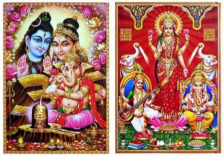 Hindu Deities - Set of 2 Posters