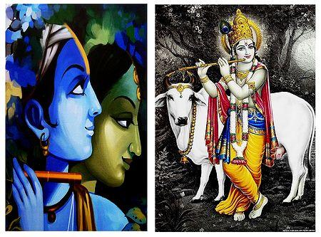 Radha, Krishna - Set of 2 Posters