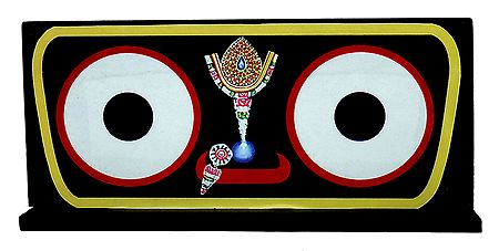 Eyes of Sri Jagannath Picture on Hardboard - Table Top