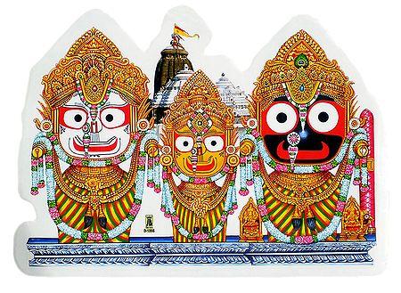 Jagannath, Balaram and Subhadra  on Sticker