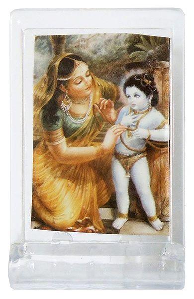 Yashoda and Krishna - Acrylic Table Stand