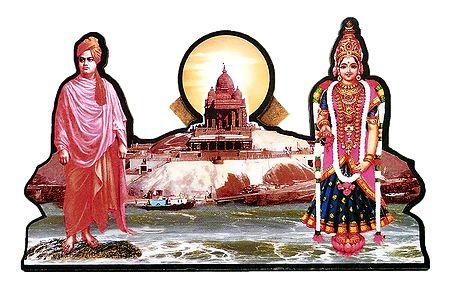 Swami Vivekananda and Kanyakumari - Picture with Stand
