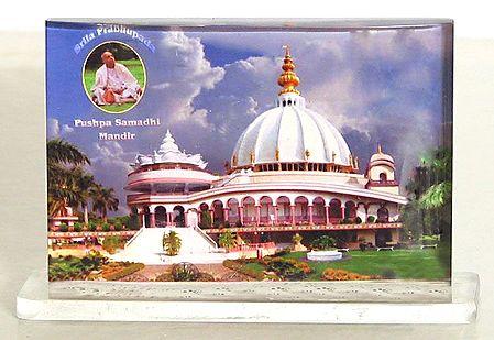 Prabhupada Samadhi Mandir - Acrylic Framed Table Top Picture