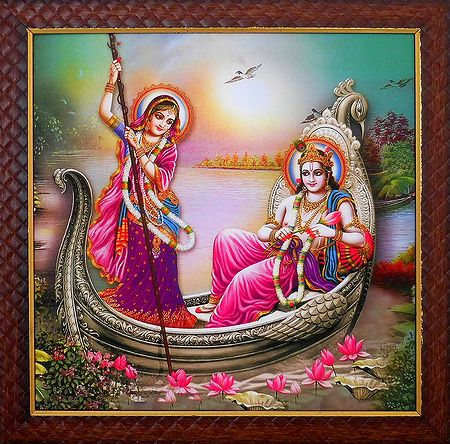 Radha Krishna on a Boat Ride