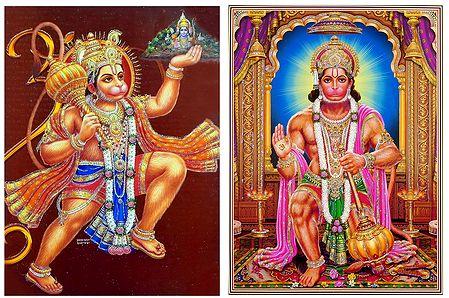 Hanuman - Set of 2 Glitter Posters