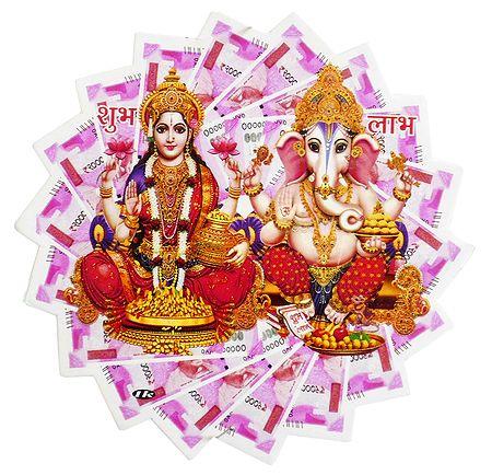 Lakshmi, Ganesha