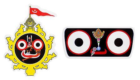 Face of Jagannathdev - Set of 2 Stickers
