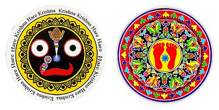 Face of Jagannathdev and Charan - Set of 2 Stickers