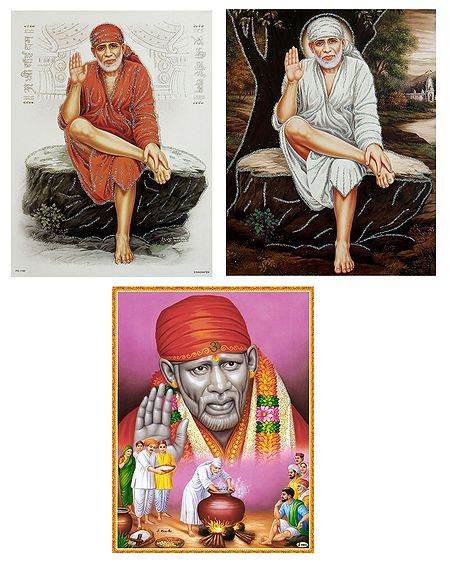 Shirdi Sai Baba - Set of 3 Posters