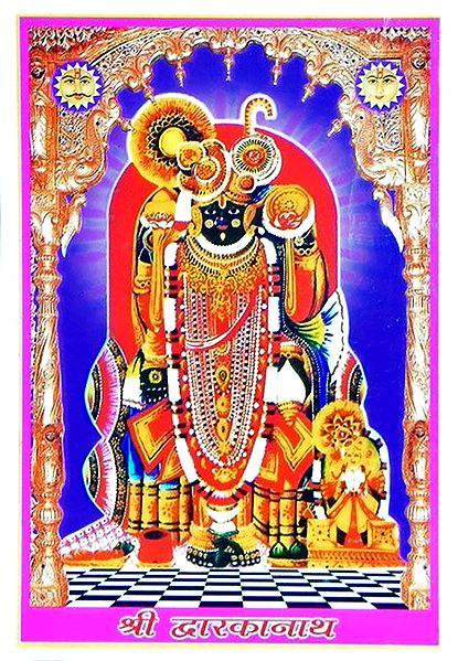 Sri Dwarkadheesh - Acrylic Framed Table Top Picture