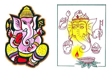 Lord Ganesha - 2 Small Posters