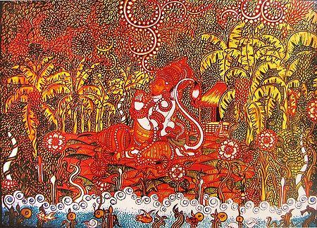 Hanuman in Ashok Van to Search Sita