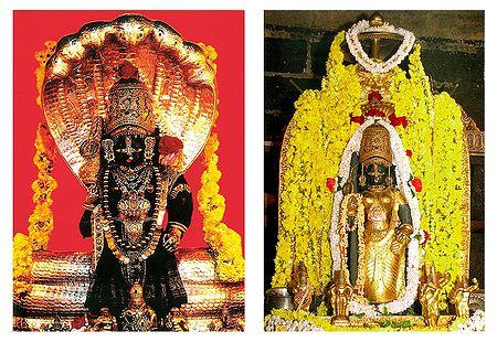Udupi Krishna and Sri Lakshmi - 2 Small Posters