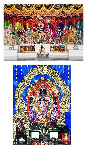 Radha Krishna and Narasimha Avatar - Set of 2 Photo Print